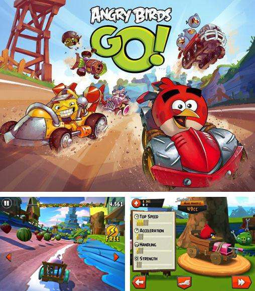 In addition to the game Bad Piggies for Android phones and tablets, you can also download Angry birds go! for free.