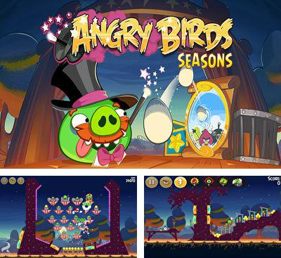 In addition to the game Angry Birds for Android phones and tablets, you can also download Angry Birds Seasons - Abra-Ca-Bacon! for free.