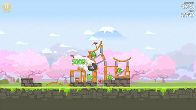 Angry Birds Seasons: Cherry Blossom Festival screenshot 2
