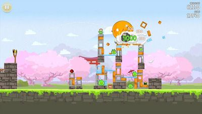 Screenshots von Angry Birds Seasons: Cherry Blossom Festival für Android-Tablet, Smartphone.