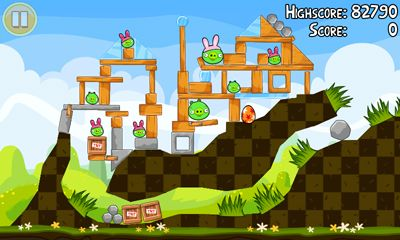 Kostenloses Android-Game Angry Birds. Seasons: Ostereier. Vollversion der Android-apk-App Hirschjäger: Die Angry Birds. Seasons: Easter Eggs für Tablets und Telefone.