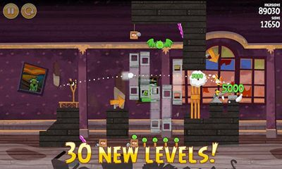 Android タブレット、携帯電話用Angry Birds Seasons Haunted Hogs!のスクリーンショット。