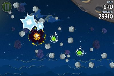 Angry Birds Space screenshot 1