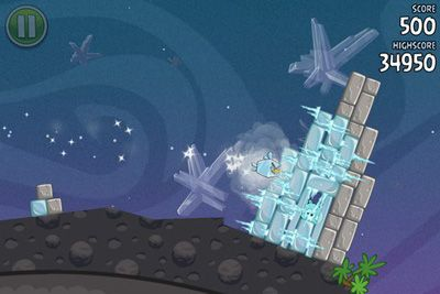 Screenshots do Angry Birds Space - Perigoso para tablet e celular Android.