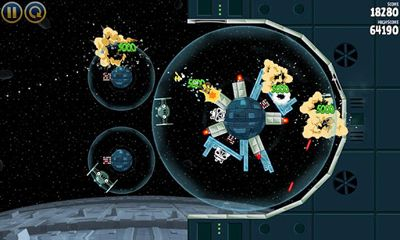 Screenshots of the Angry Birds Star Wars v1.5.3 for Android tablet, phone.