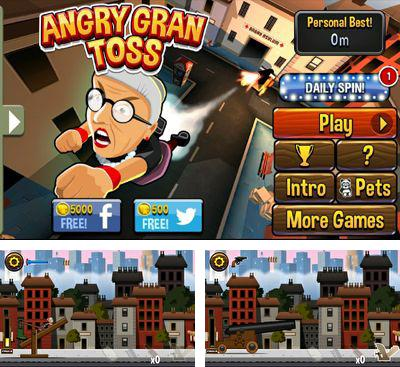 In addition to the game Angry Gran for Android phones and tablets, you can also download Angry Gran Toss for free.