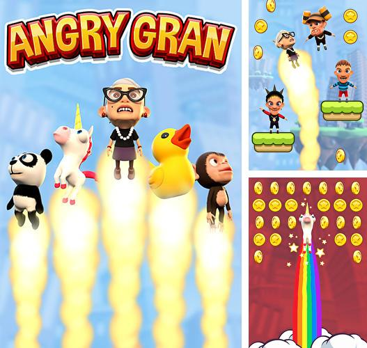 Angry gran: Up up and away. Jump