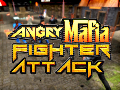 Angry mafia fighter attack 3D poster