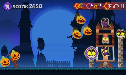 Screenshots von Angry pumpkins: Halloween für Android-Tablet, Smartphone.