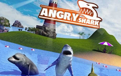 Angry shark: Simulator 3D poster