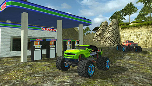Get full version of Android apk app Angry truck canyon hill race for tablet and phone.