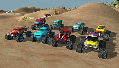 Screenshots of the Angry truck canyon hill race for Android tablet, phone.