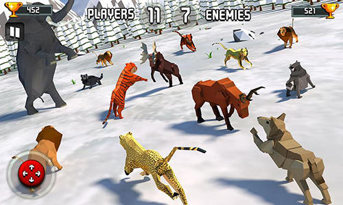 Kostenloses Android-Game Tierkönigreich: Kampfsimulator 3D. Vollversion der Android-apk-App Hirschjäger: Die Animal kingdom battle simulator 3D für Tablets und Telefone.