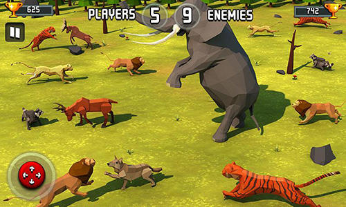 Screenshots von Animal kingdom battle simulator 3D für Android-Tablet, Smartphone.
