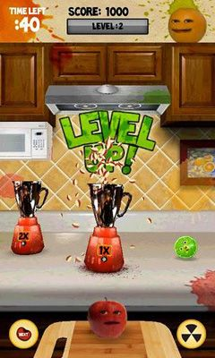 Screenshots von Annoying Orange. Kitchen Carnage für Android-Tablet, Smartphone.