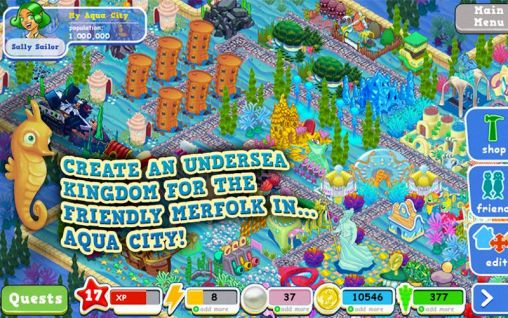 Download Aqua city: Fish empires Android free game.
