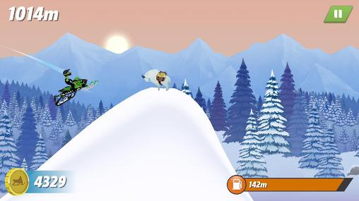 Capturas de pantalla de Arctic cat: Extreme snowmobile racing para tabletas y teléfonos Android.