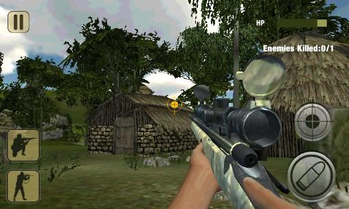 Screenshots do Army commando: Sniper shooting 3D - Perigoso para tablet e celular Android.