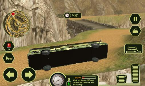 Screenshots von Army transport bus driver für Android-Tablet, Smartphone.