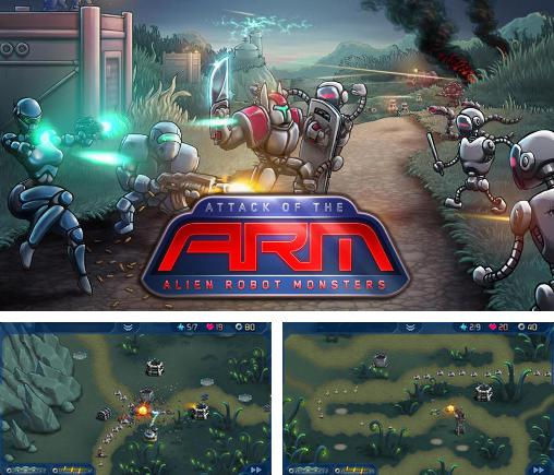 En plus du jeu Totale Défense pour téléphones et tablettes Android, vous pouvez aussi télécharger gratuitement Attaque de l'A.R.M.: Robots-monstres extraterrestres, Attack of the A.R.M.: Alien robot monsters.