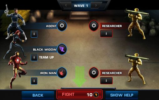 Screenshots von Avengers: Alliance für Android-Tablet, Smartphone.