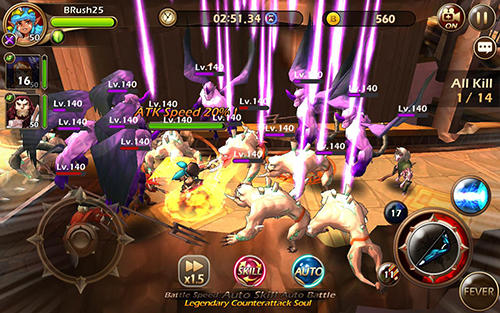Screenshots von Babel rush: Heroes and tower für Android-Tablet, Smartphone.