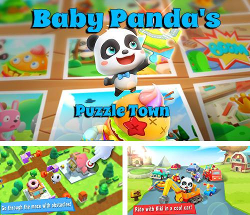 Baby panda's puzzle town: Healthy eating