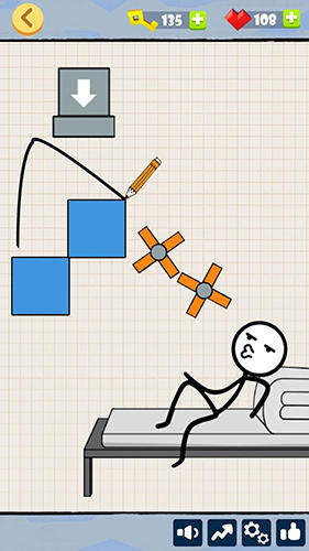 Bad luck stickman: Addictive draw line casual game screenshot 2