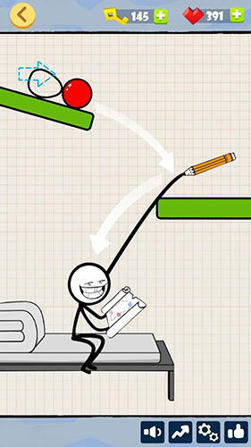Bad luck stickman: Addictive draw line casual game screenshot 4