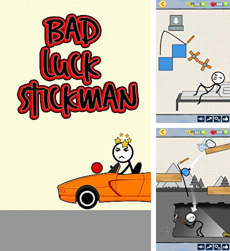 Bad luck stickman: Addictive draw line casual game