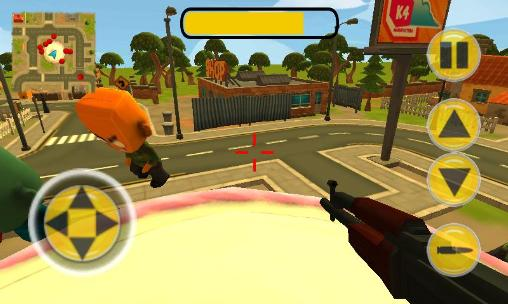 Juega a Badtown: 3D action shooter para Android. Descarga gratuita del juego Badtown: Tiro 3D.