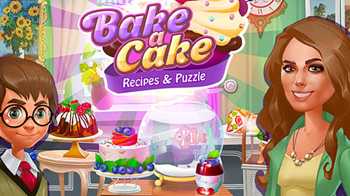 Bake a cake puzzles and recipes poster