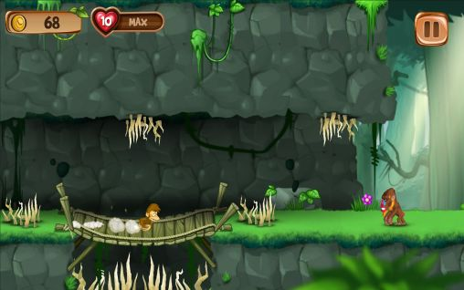 Screenshots do Banana island: Jungle run - Perigoso para tablet e celular Android.