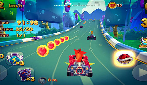 Гра Bandicoot kart racing на Android - повна версія.