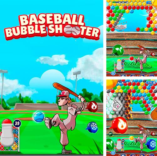 Baseball bubble shooter: Hit a homerun