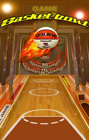 Basket bowl. Skee basket ball pro poster