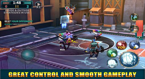 Kostenloses Android-Game Basketball Gang: Revolution. Vollversion der Android-apk-App Hirschjäger: Die Basketball gang: Revolution für Tablets und Telefone.