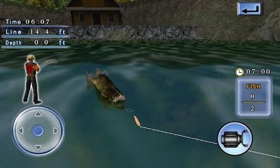 Screenshots von Bass Fishing 3D on the Boat für Android-Tablet, Smartphone.