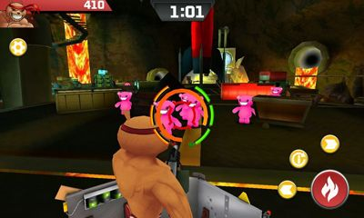 Screenshots do Battle Bears Zero - Perigoso para tablet e celular Android.