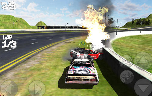 Screenshots von Battle cars: Action racing 4x4 für Android-Tablet, Smartphone.