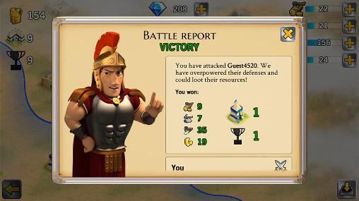 Screenshots von Battle empire: Roman wars für Android-Tablet, Smartphone.