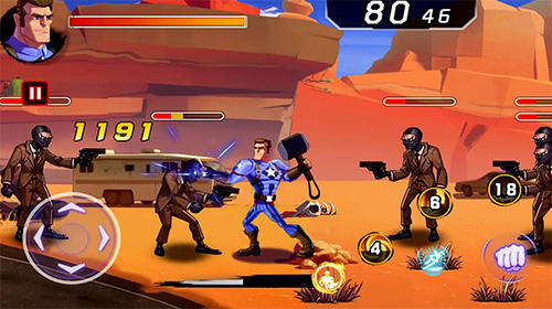 Screenshots von Battle of superheroes: Captain avengers für Android-Tablet, Smartphone.