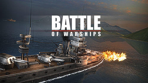 Battle of warships poster