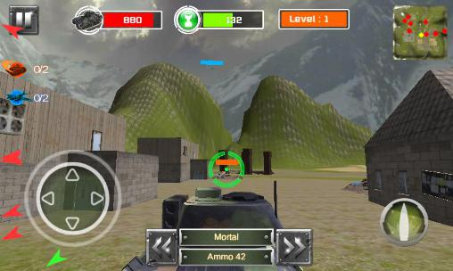 Screenshots von Battlefield of tanks 3D für Android-Tablet, Smartphone.