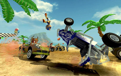 Juega a Beach buggy racing para Android. Descarga gratuita del juego Carreras de playa en cochecillo.