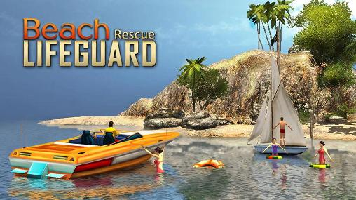 Beach lifeguard rescue duty poster