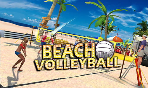 Beach volleyball 3D poster