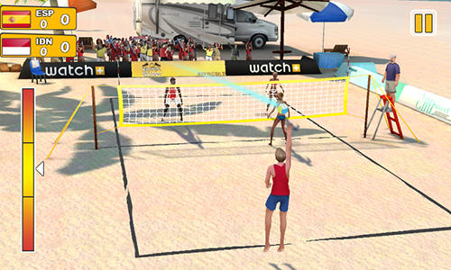 Download Beach volleyball 3D Android free game.
