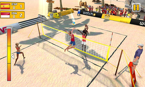 玩安卓版Beach volleyball 3D。免费下载游戏。