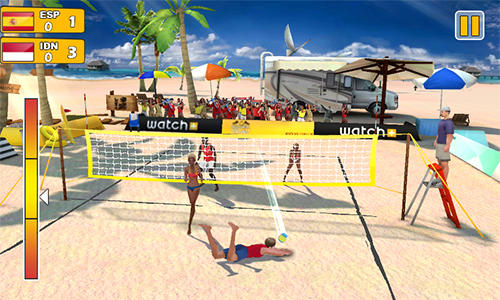 Screenshots von Beach volleyball 3D für Android-Tablet, Smartphone.
